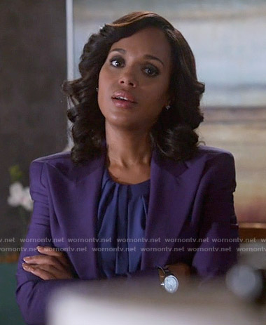 Olivia's purple blazer on Scandal