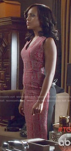 Olivia's red checked front dress on Scandal