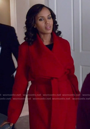 Olivia's red wrap coat on Scandal