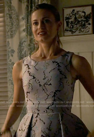 Paige's printed jacquard dress on Royal Pains