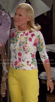 Pam's floral cardigan on The Bold and the Beautiful