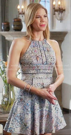 Peri's printed halterneck dress on Devious Maids