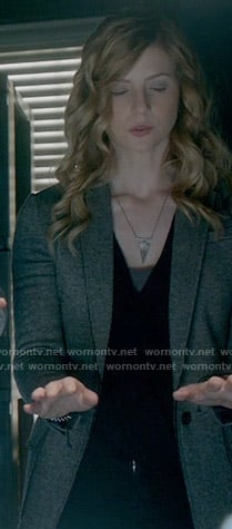 Valerie's triangle necklace on The Vampire Diaries