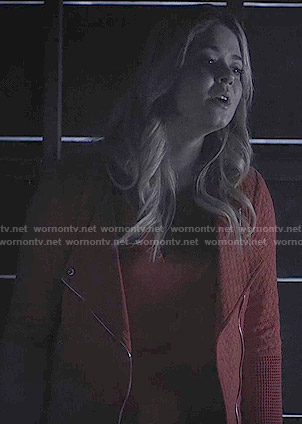 Ali's red jacket on Pretty Little Liars
