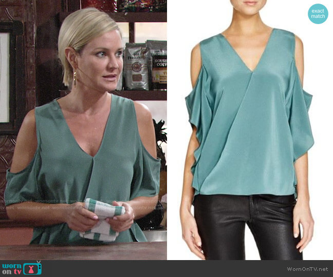 Bailey 44 Azalea Top worn by Sharon Collins (Sharon Case) on The Young & the Restless