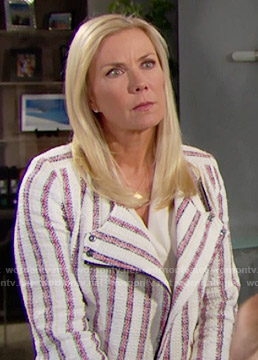 Brooke's jacket with red stripes on The Bold and the Beautiful