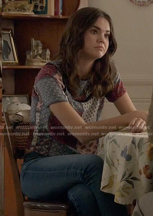 Callie's patchwork print top on The Fosters