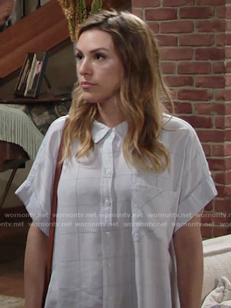 Chloe's checked shirt on The Young and the Restless