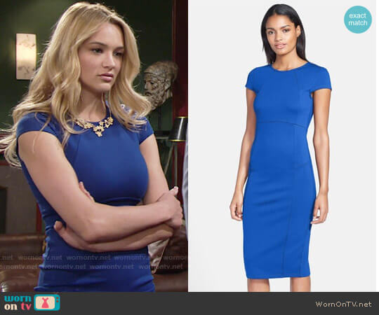 Felicity & Coco Seamed Pencil Dress worn by Hunter King on The Young & the Restless