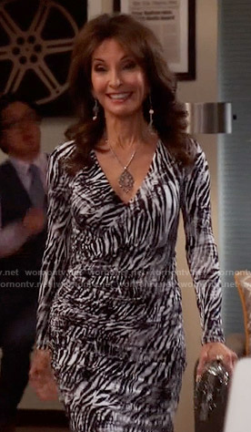 Genevieve's zebra print dress on Devious Maids