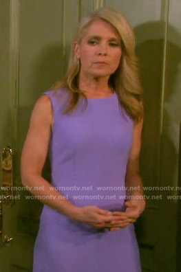 Jennifer's purple sleeveless shift dress on Days of our Lives