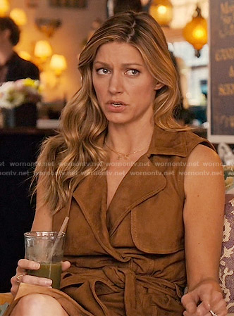 Josslyn's suede sleeveless trench dress on Mistresses