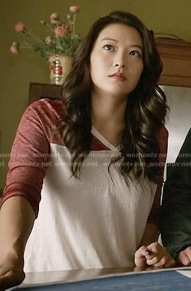 Kira's red and white t-shirt on Teen Wolf