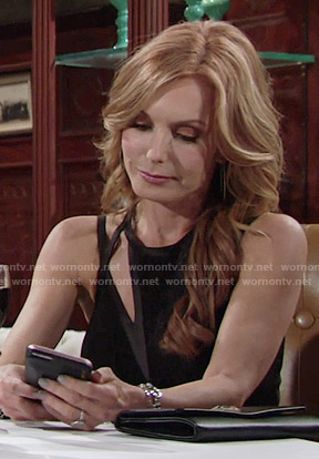 Lauren's black cutout dress on The Young and the Restless