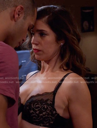 Marisol's black lace bra on Devious Maids