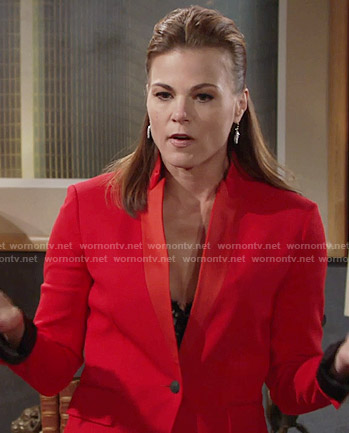 Phyllis's red blazer on The Young and the Restless