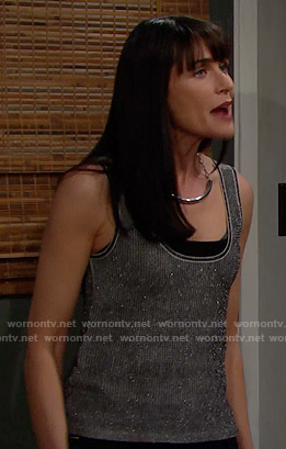Quinn's metallic tank top on The Bold and the Beautiful