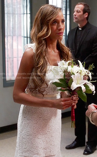 Rosie's white lace dress on Devious Maids