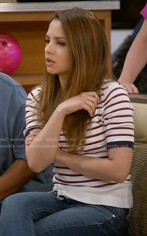 Sofia's striped top on Young and Hungry