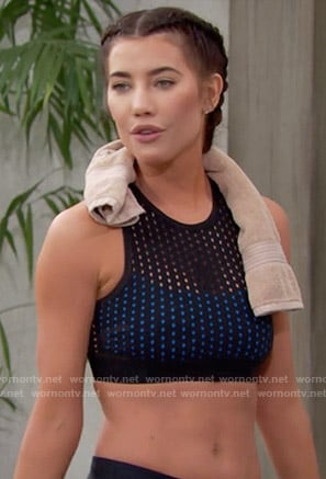 Steffy's perforated sports bra on The Bold and the Beautiful