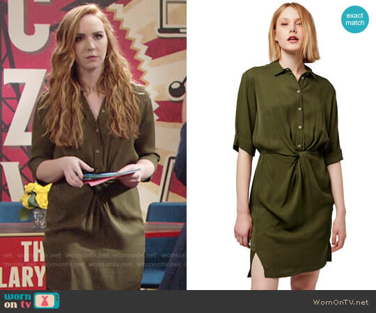 Topshop Twist Front Shirtdress worn by Camryn Grimes on The Young & the Restless