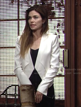 Victoria's white jacket on The Young and the Restless