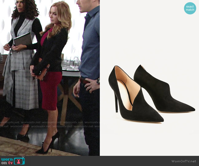 Zara Asymmetrical Heels worn by Lauren Fenmore (Tracey Bregman) on The Young & the Restless