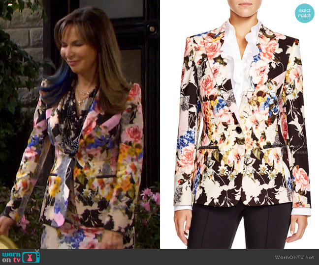 Floral Print Blazer by Basler worn by Kate Roberts (Lauren Koslow) on Days of our Lives