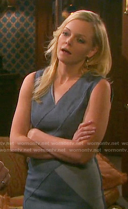 Belle's grey colorblock dress on Days of our Lives