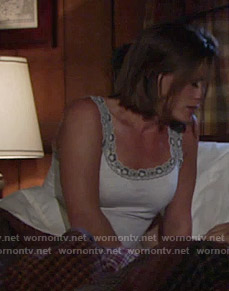 Chelsea's lace trimmed camisole on The Young and the Restless