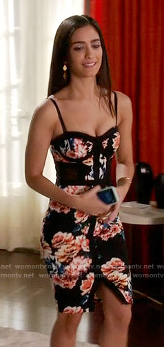Daniela's floral bustier dress on Devious Maids