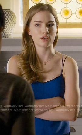 Emma's blue cami on Scream