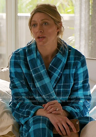 Josslyn's blue plaid robe on Mistresses