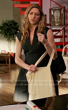 Josslyn's black v-neck dress on Mistresses