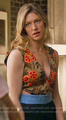 Josslyn's floral cutout jumpsuit on Mistresses