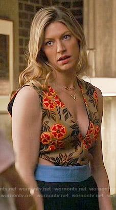 Josslyn's floral cutout jumpsuit on Mistresses