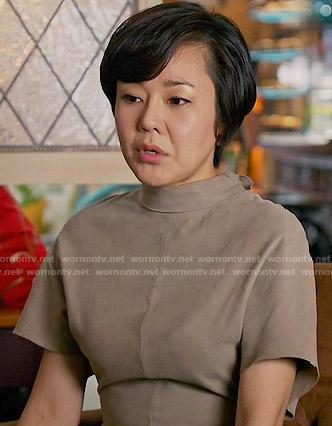 Karen's suede roll neck dress on Mistresses