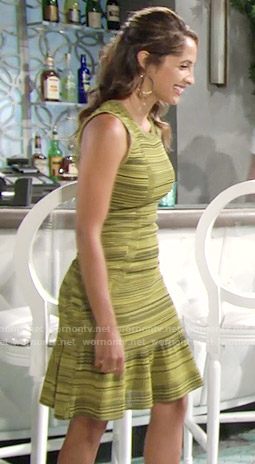 Lily's yellow space dye dress on The Young and the Restless
