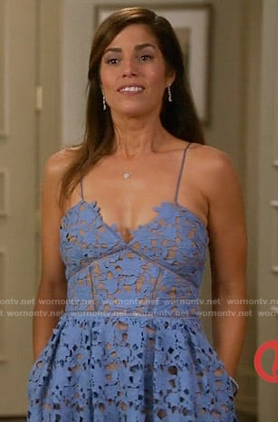 Marisol's blue lace dress on Devious Maids