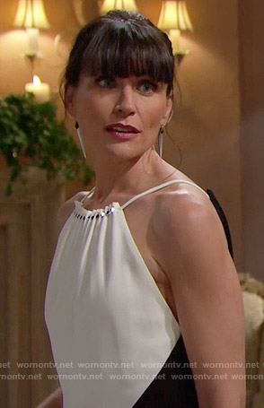 Quinn's black and white gown on The Bold and the Beautiful