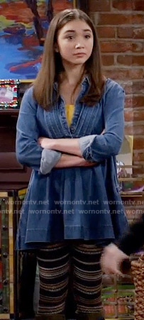 Riley's denim tunic on Girl Meets World