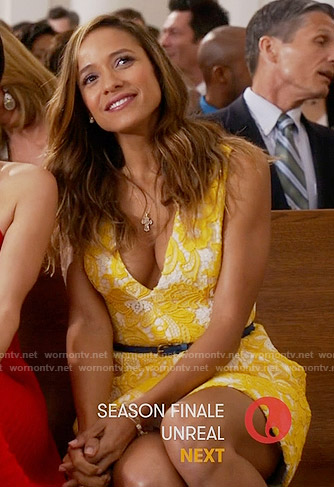 Rosie's yellow lace dress on Devious Maids