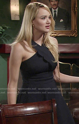 Summer's crossed neck dress on The Young and the Restless