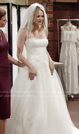 Summer's strapless wedding gown on The Young and the Restless
