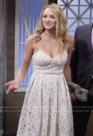 Summer's white lace dress on The Young and the Restless