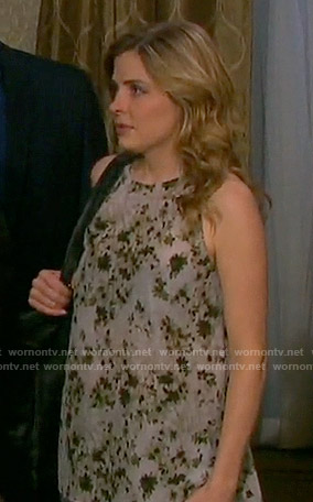 Theresa's floral top on Days of our Lives