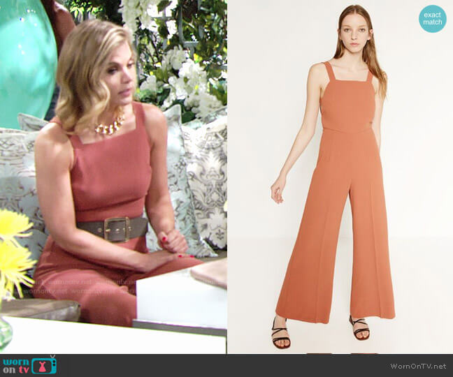 Zara Jumpsuit with Side Print worn by Gina Tognoni on The Young & the Restless