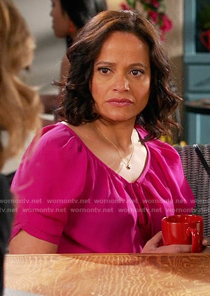 Zoila's pink blouse on Devious Maids