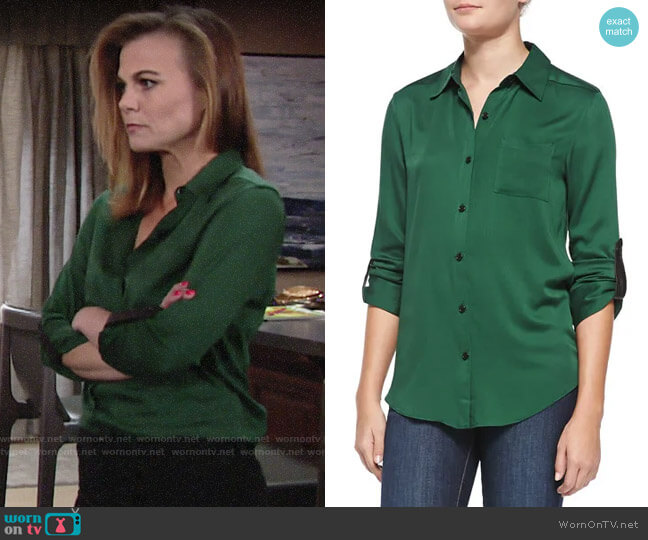 Alice + Olivia Piper Shirt worn by Phyllis Newman (Gina Tognoni) on The Young & the Restless
