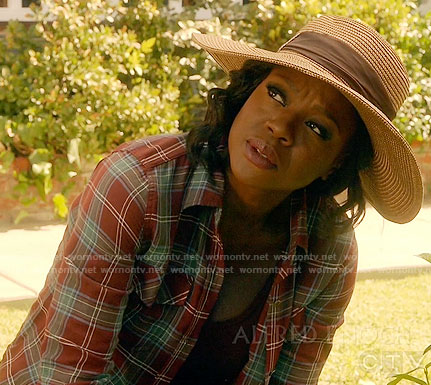 Annalise's red plaid shirt on How to Get Away with Murder